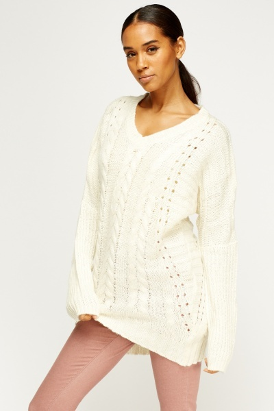 Cable Knit Loose Jumper