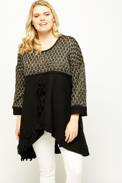 Detailed Bodice Asymmetric Top