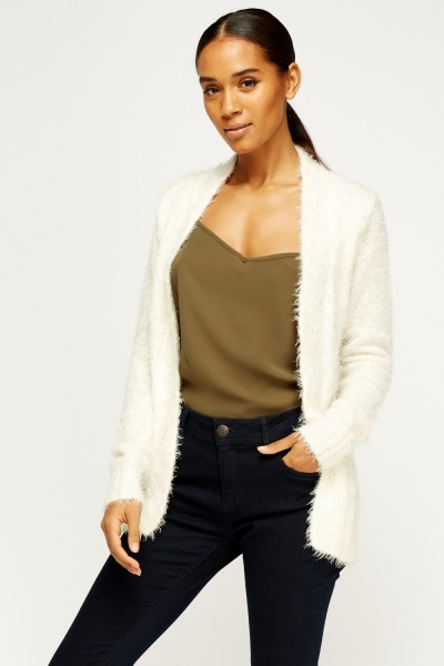 Eyelash Knit Open Front Cardigan