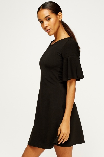 Flare Sleeve Swing Dress