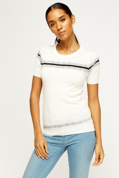 Knitted Short Sleeve Top
