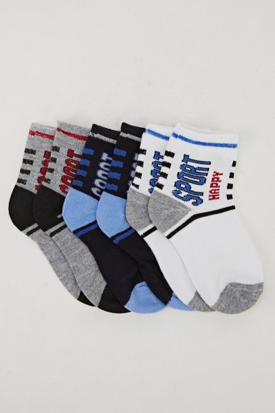 Boys Ankle Printed Socks