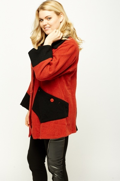 Colour Block Asymmetric Jacket