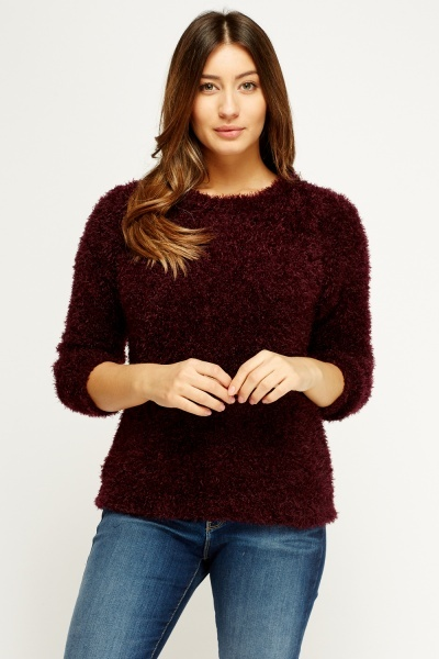 Eyelash Knit Casual Jumper
