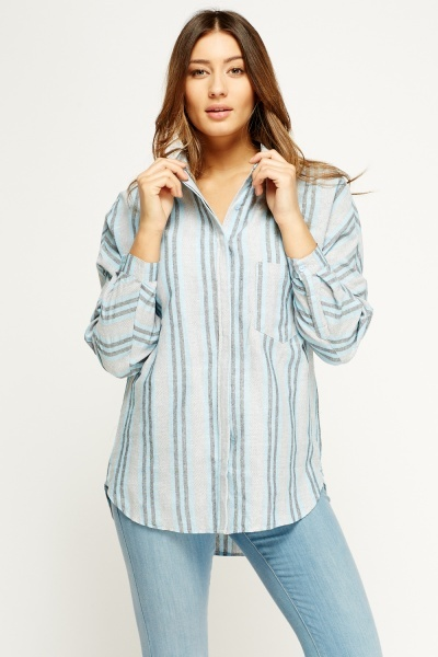 Pinstripe Casual Shirt