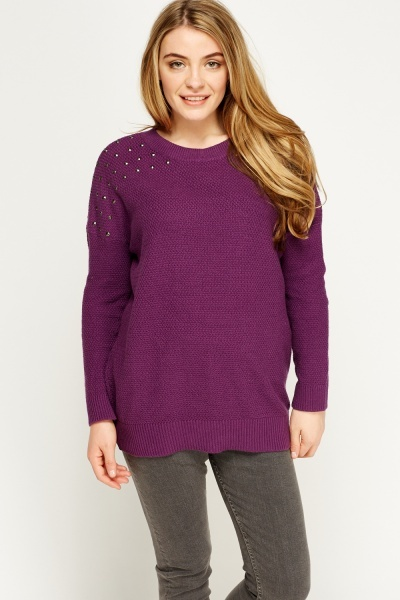 Studded Knit Jumper