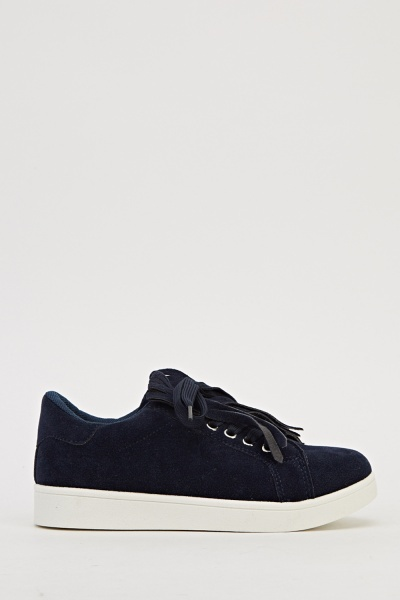 Insert Fringed Lace Up Trainers