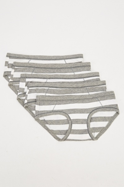 Pack Of 5 Striped Briefs