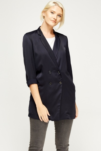 Double Breasted Thin Long Jacket