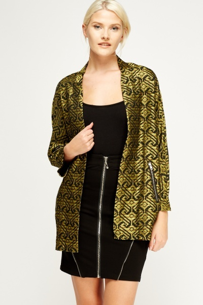 Metallic Insert Printed Jacket