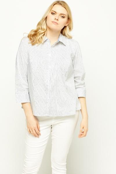 Multi Printed 3/4 Sleeve Shirt