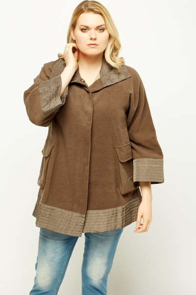 Quilted Trim Short Sleeve Jacket