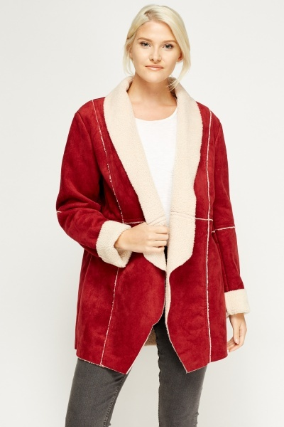 Teddy Bear Contrast Jacket