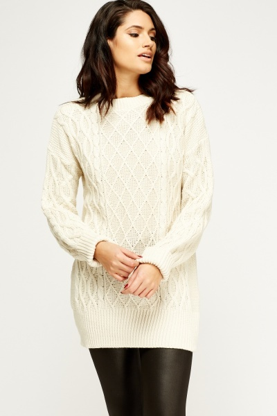 Cable Knit Cream Jumper