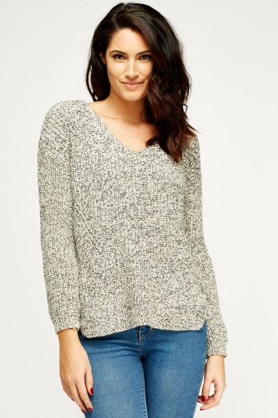 Speckled Low Neck Jumper
