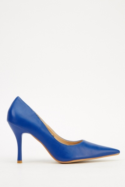 Faux Leather Court Low Heel