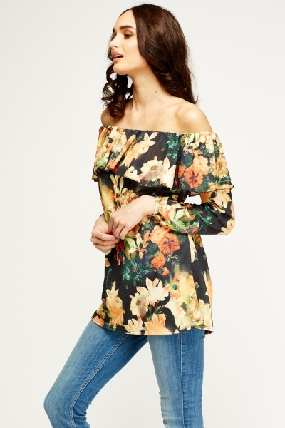 Off Shoulder Frilled Top