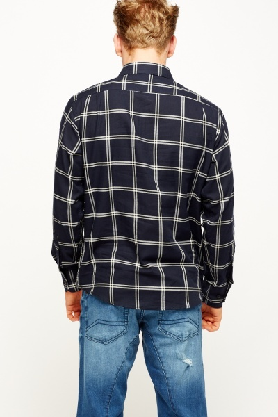 Navy Checked Shirt