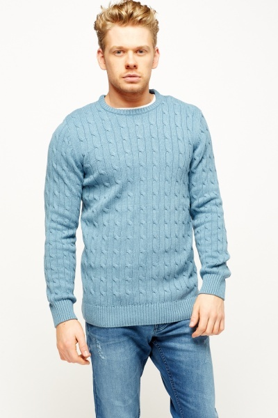 Cable Knit Mens Jumper