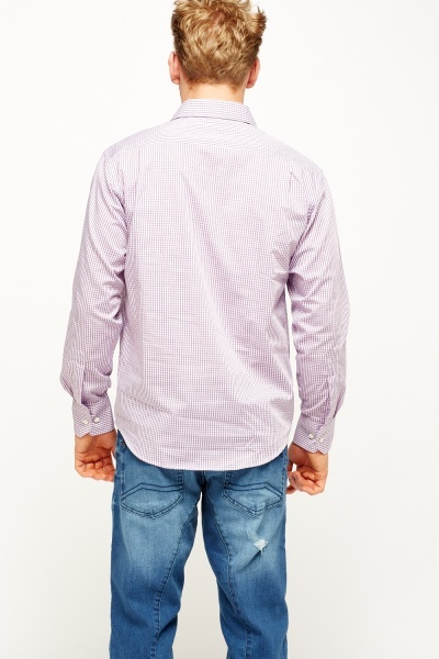 Mauve Checked Shirt