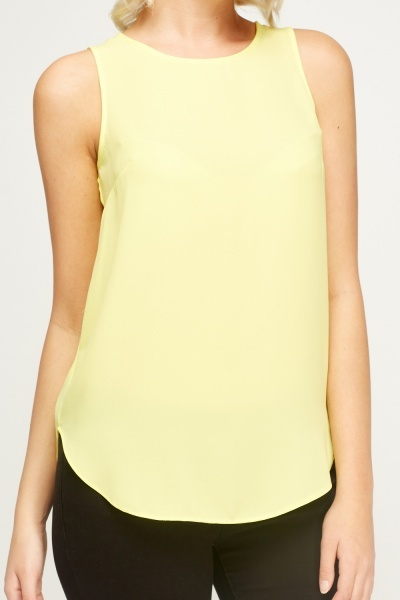 Sleeveless Blouse Top