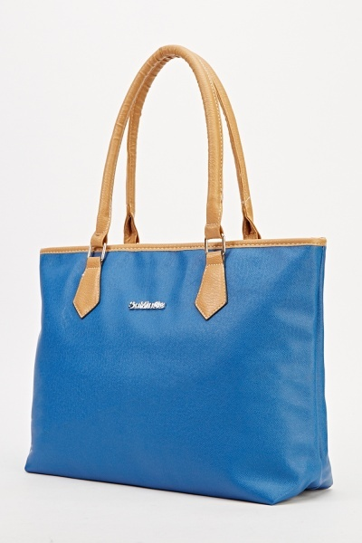 Faux Leather Classic Tote Bag