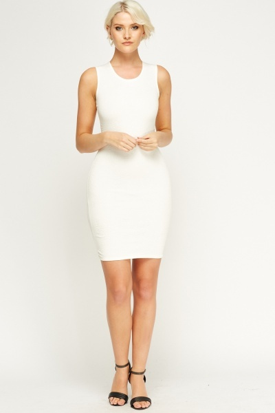 Image of Embossed Bodycon Dress