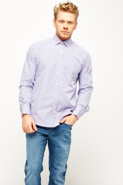 Lilac Checked Shirt