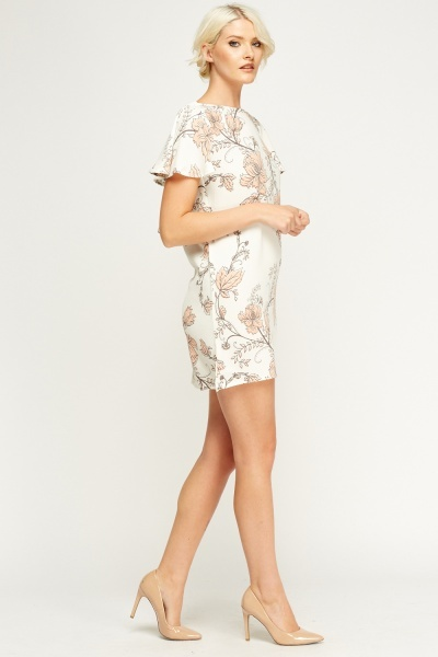 Printed Frilled Dress