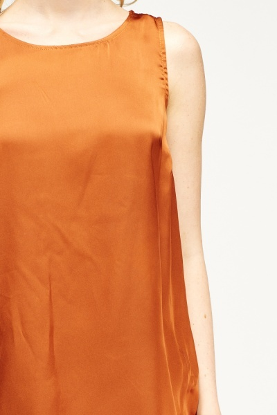 Rust Sleeveless Top
