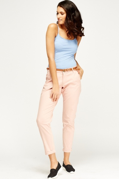 Basic Belted Jeans