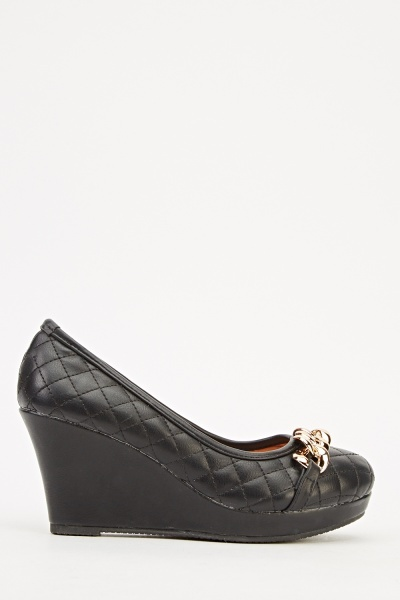 Quilted Wedge Chain Shoe