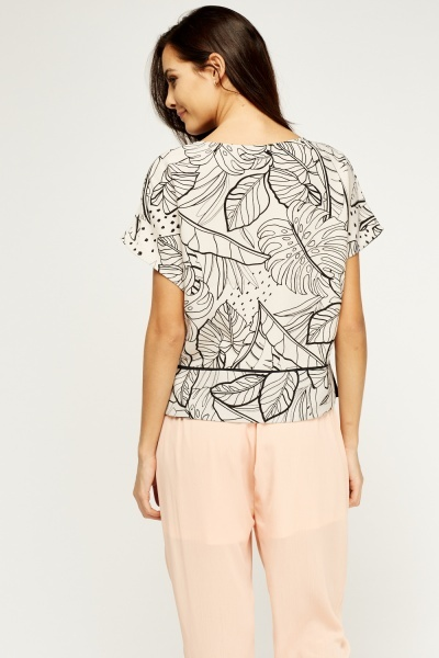 Leaf Print Box Top