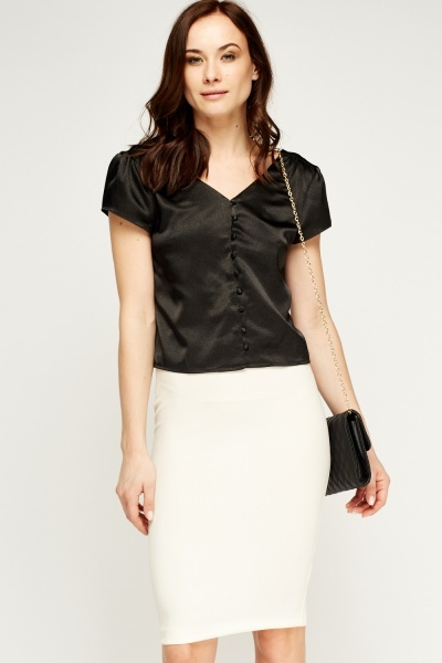Button Up Satin Top
