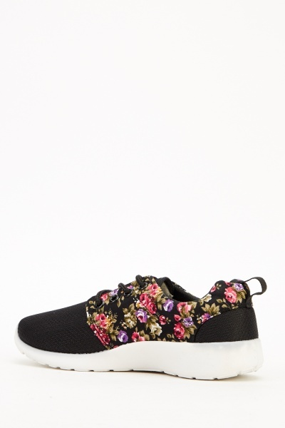 Floral Side Perforated Trainers