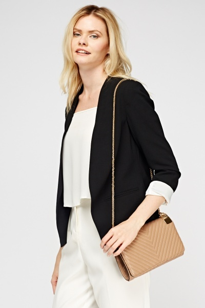 Black Contrast Formal Blazer