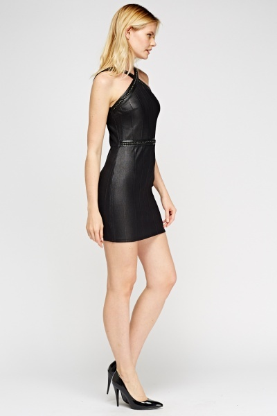 Chain Bandage Bodycon Dress