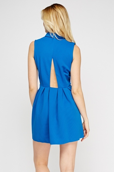 Cut Out Back Skater Dress