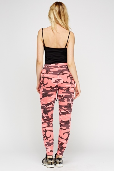 Hot Pink Camouflage Joggers