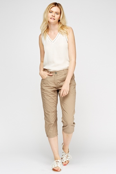 Lightweight Cropped Trousers