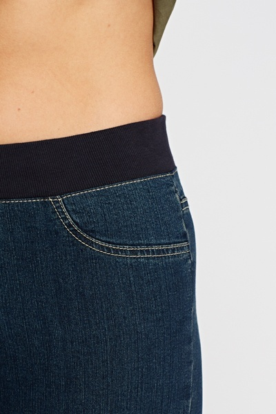3/4 Elasticated Jeans