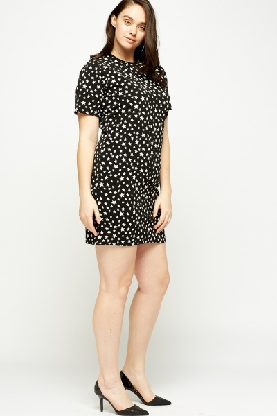 Star Print Shift Dress