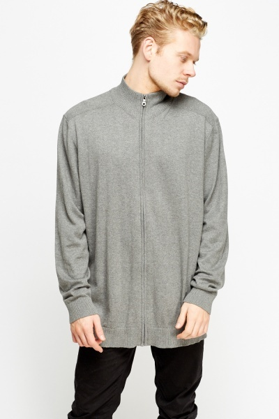 High Neck Zipped Jumper