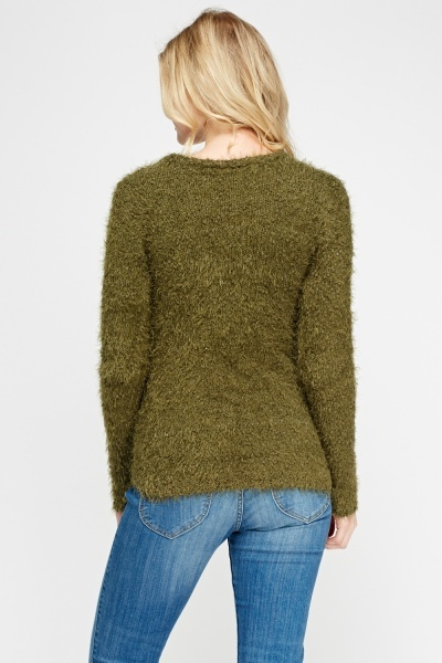 Bobble Knit Eyelash Jumper