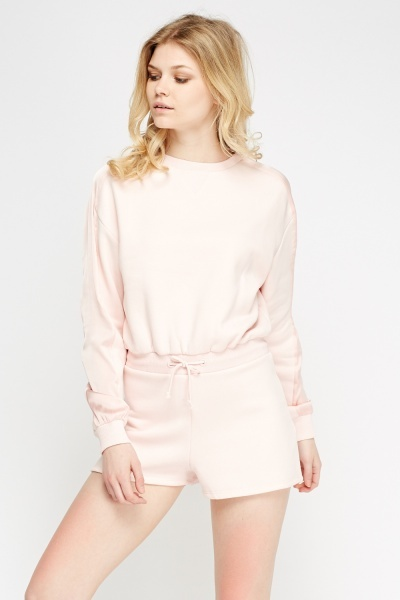 Light Pink Jumper Playsuit