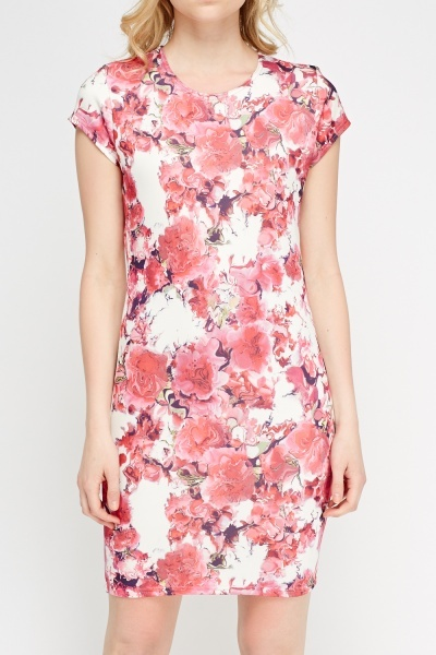 Pink Printed Bodycon Dress
