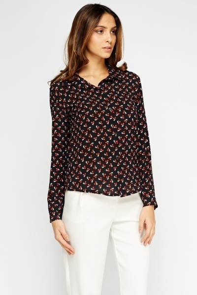 Cherry Printed Blouse
