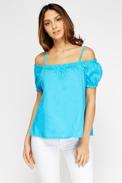 Cold Shoulder Elastic Top