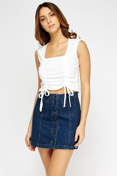 Pack Of 6 Basic Cropped Top