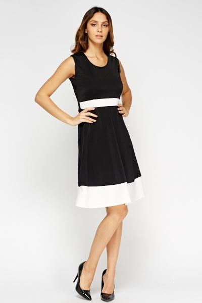 Image of Scuba Two Tone Swing Dress